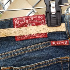 Lucky Brand Pants - Lucky brand Jean's with lace accents